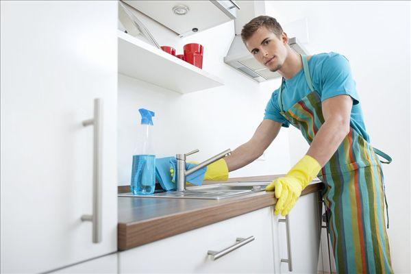 居家清洁厨房_全景图片