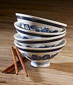 一堆,中国,瓷碗