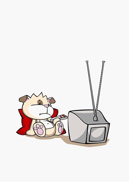 >卡通看电视