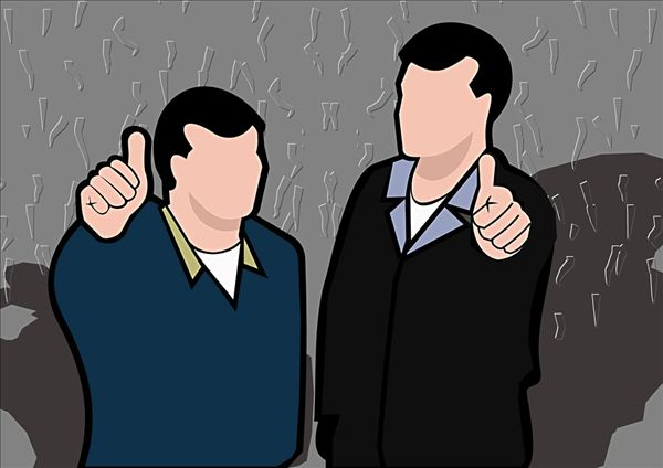 大拇指大标题卡通边框