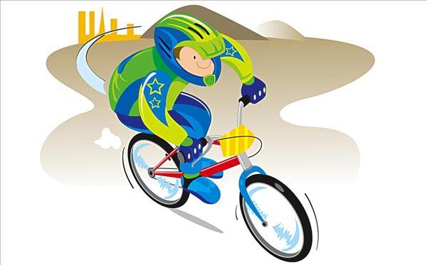 骑自行车简笔画:创意手绘卡通画:鲸鱼卡通画