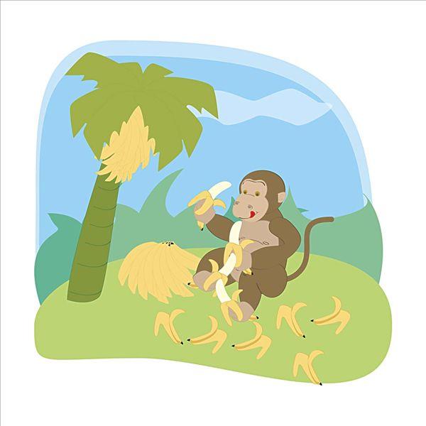 可爱猴子头像一对