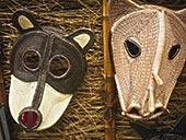 特写,两个,面具,老,巴拿马,巴拿马市