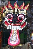 特写,面具,大城府,泰国