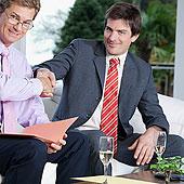 两个,商务人士,握手