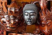 佛教,印度教,面具,中心,巴厘岛,印度尼西亚,东南亚