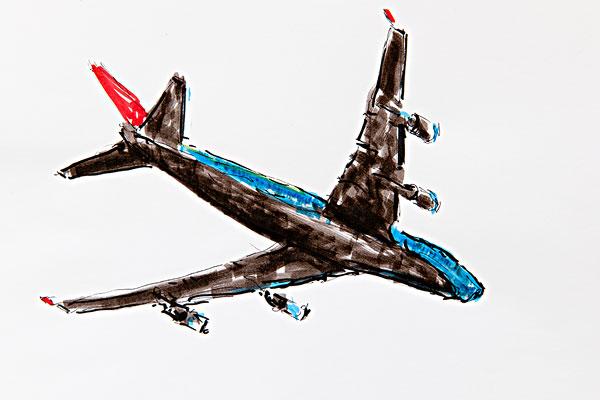 飞机素描_飞机素描图片