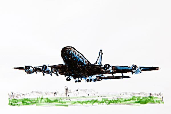 素描飞机_素描飞机图片