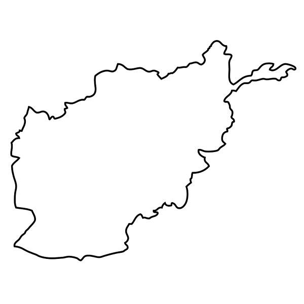 轮廓,地图,阿富汗