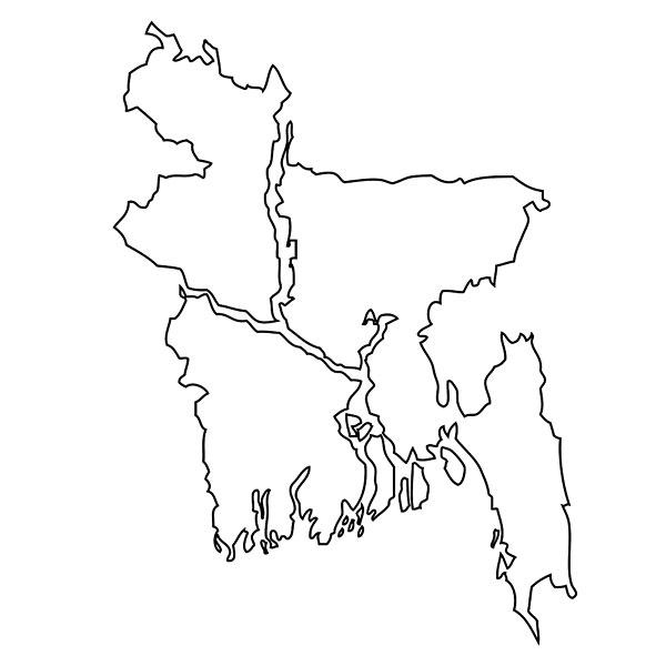 轮廓,地图,孟加拉