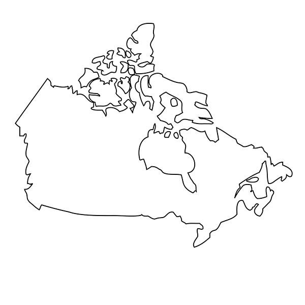 轮廓,地图,加拿大