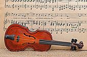 玩具,小提琴,正面,乐谱