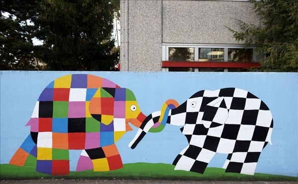 百科 >幼儿园墙绘  壁画,彩色,墙壁,纽伦堡.