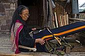 女人,编织,材质,传统,手,织布机,哈尼族,印度,亚洲