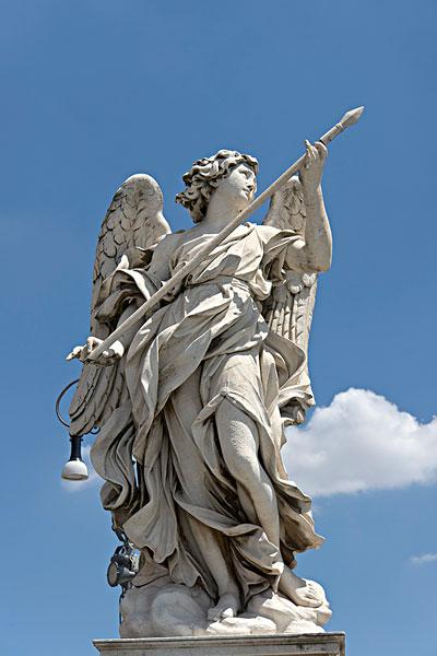 天使,圆屋顶,跪地,一个,雕塑,象征,激情,设计,巴洛克雕刻家贝尼尼