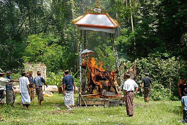 巴厘岛,印度教,葬礼,典礼,火葬,神祠,靠近,乌布,印度尼西亚,东南亚