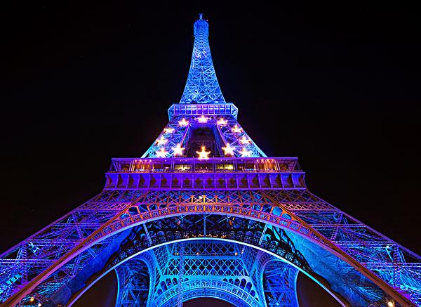 夜景,埃菲尔铁塔,巴黎