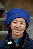头像,女人,哈尼族,种族,群体,暗色,蓝色,衣服,靠近,心计,元阳,云南,共和国,亚洲
