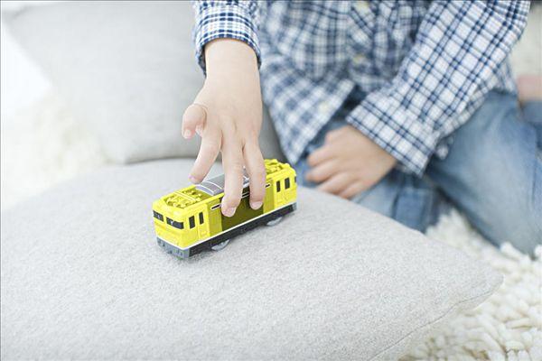 男孩,玩,玩具火车