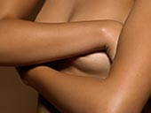 女人,遮盖,乳房