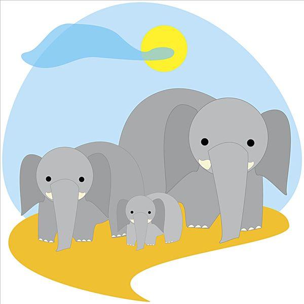 卡通大象_卡通大象图片
