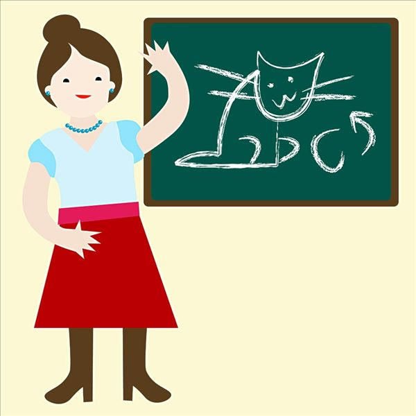 卡通女老师_卡通女老师图片
