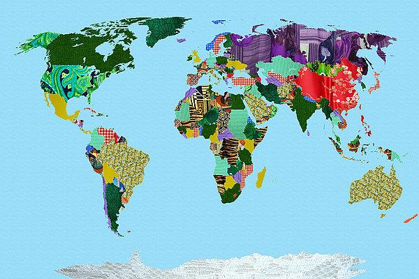 拼布世界地图_全景图片