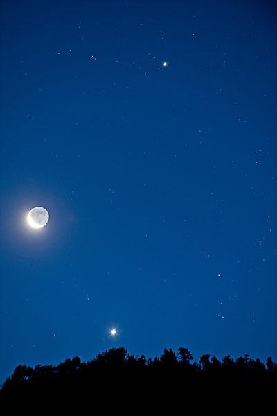 月亮,星,天空