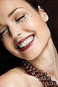 女青年,钻石,脸,肖像