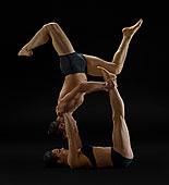 中年,夫妻,表演,现代舞