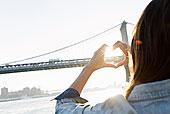 制作,心形,曼哈顿大桥,布鲁克林,美国