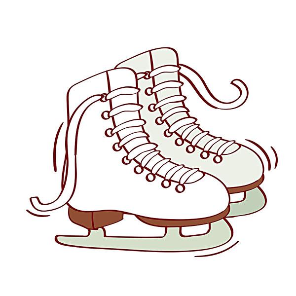 儿童轮滑鞋简笔画