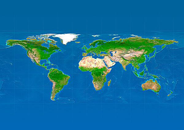 超高清世界地形图