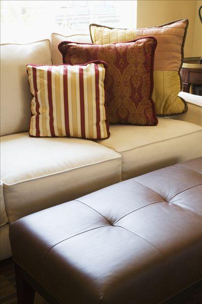 装饰,粉色,枕头,沙发