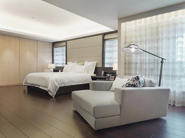 硬木地板在卧室_全景图片图片