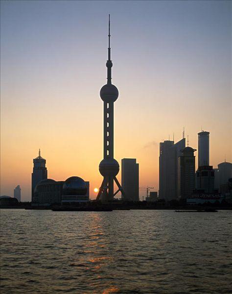 中国,上海,浦东,联系,天际线,日落,序列,亚洲,东亚,风景,城市