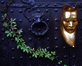 英国,格洛斯特郡,赫耳墨斯,住宿,门,特写,装饰,面具,卷须,静物,金属,入口,老,历史,中世纪,黄金