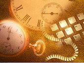 钟表,电脑键盘