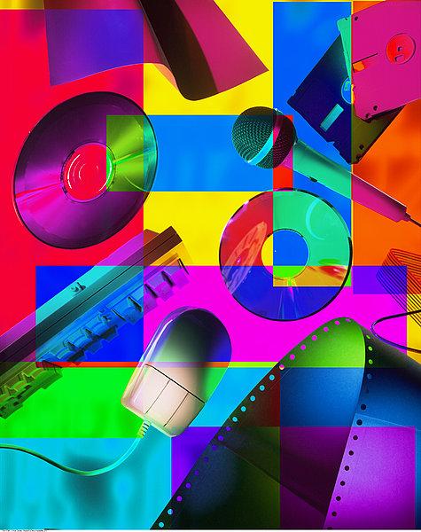 ,科技,娱乐,抽象拼贴画