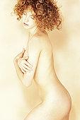 肖像,裸露,女人