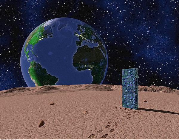 我喜欢分 享 标题: 标签: 地球,月亮,电路板 描述: view of earth