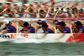 龙,赛船,码头,湾,新加坡