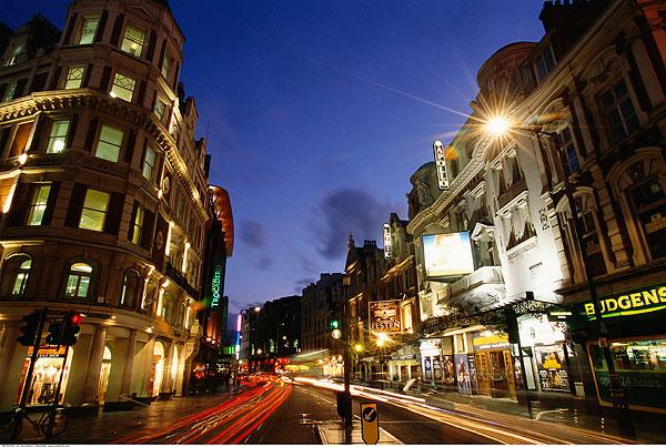 城市街道,场景,夜晚-天空,城市,街道,蓝色,夜晚图片