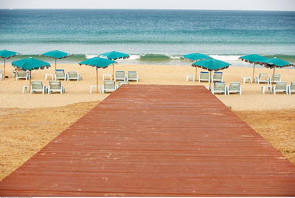 背景图片海边的小木板