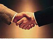 特写,商务,握手