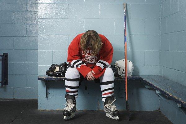 冰球运动员更衣室