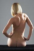 背影,裸露,女人