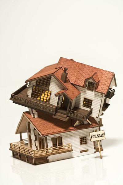 房屋模型,俯视图