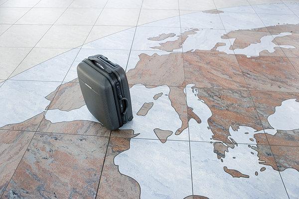 行李,包,机场,俯视图