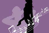 女人,音符